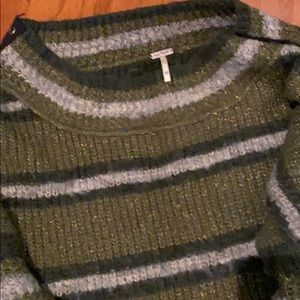 Free People Sweaters - Free People Sid Stripe Grommet Sleeve Sweater